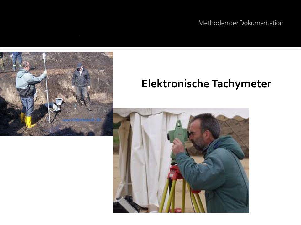 Elektronische Tachymeter Methoden der Dokumentation