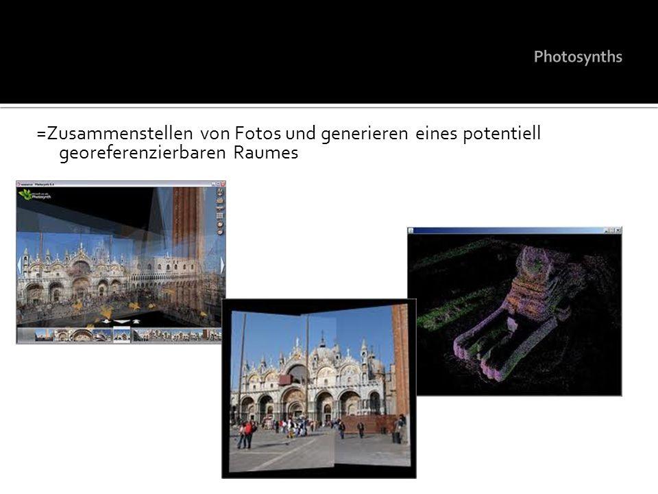 =Zusammenstellen von Fotos und generieren eines potentiell georeferenzierbaren Raumes
