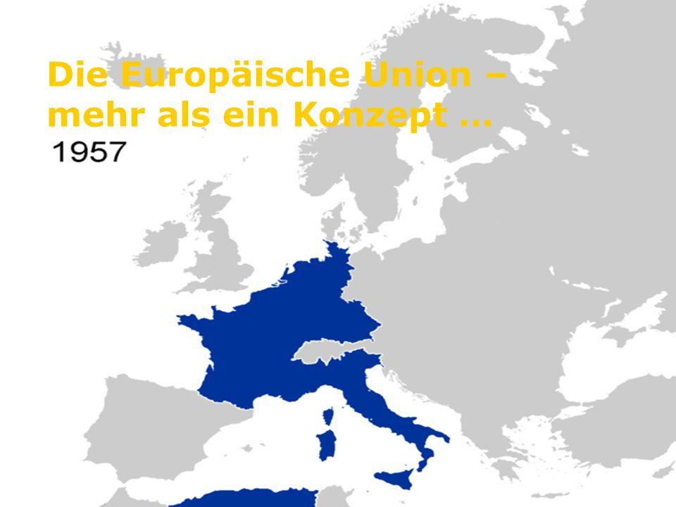 Die wichtigsten Stationen der europäischen Einigung 1950: 9.Mai: Robert Schumann verkündete seinen Plan zur Einigung Europas.
