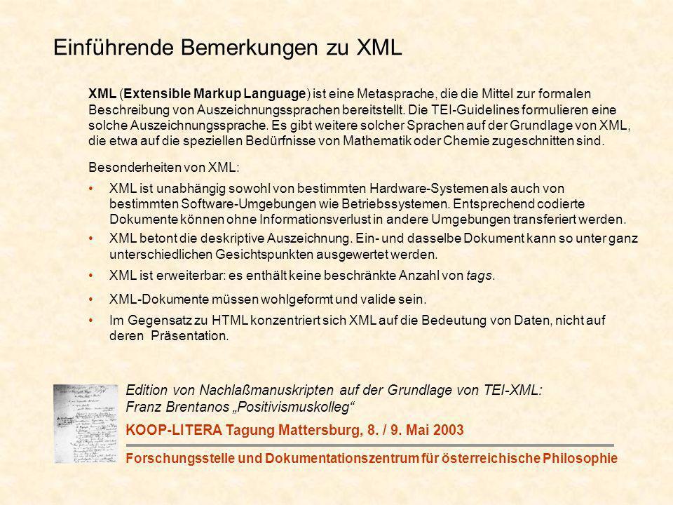 XML (Extensible Markup Language) ist eine Metasprache, die die Mittel zur formalen Beschreibung von Auszeichnungssprachen bereitstellt.