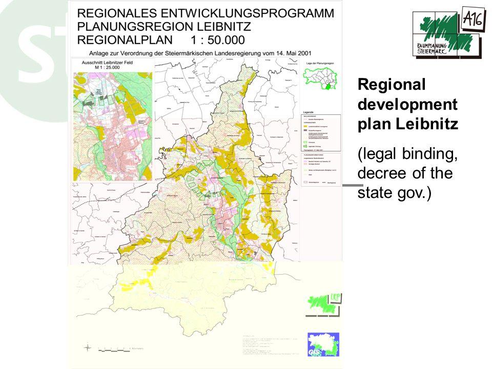 www.raumplanung.steiermark.at Regional development plan Leibnitz (legal binding, decree of the state gov.)