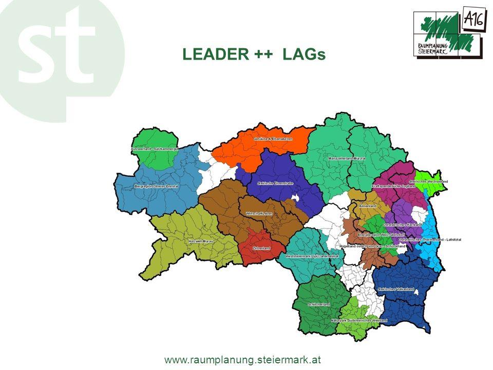 www.raumplanung.steiermark.at LEADER ++ LAGs