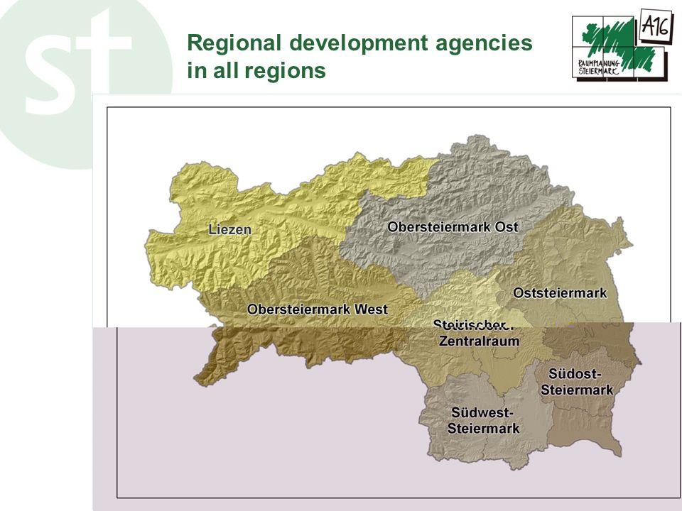 www.raumplanung.steiermark.at Regional development agencies in all regions