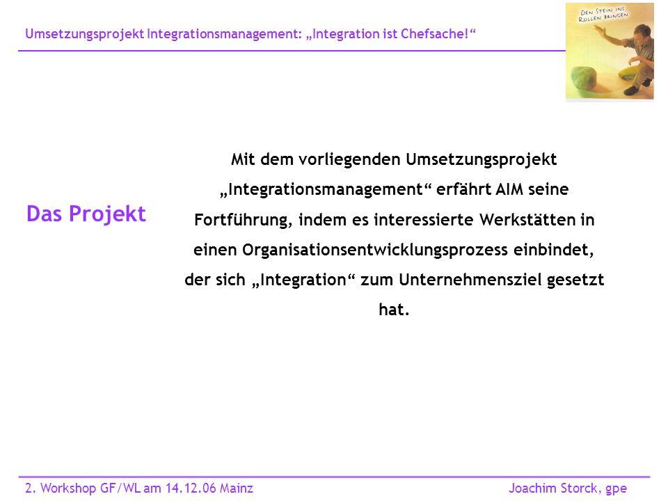 Umsetzungsprojekt Integrationsmanagement: Integration ist Chefsache.