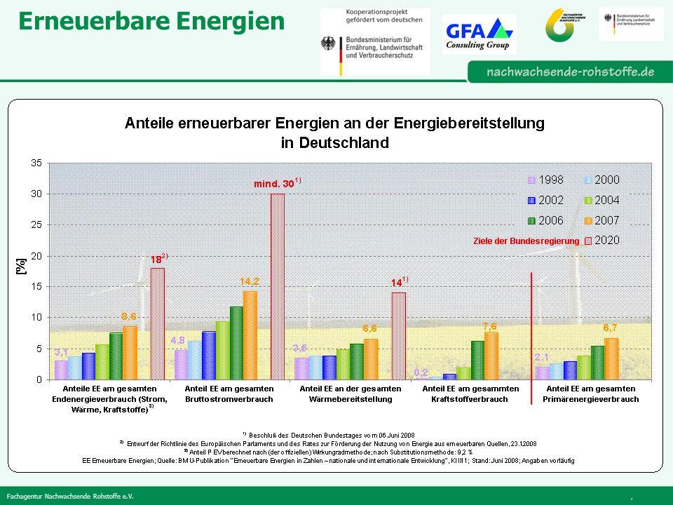 Fachagentur Nachwachsende Rohstoffe e.V., Erneuerbare Energien