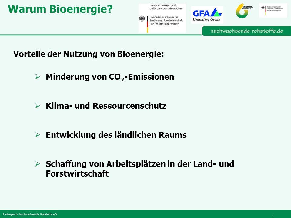 Fachagentur Nachwachsende Rohstoffe e.V., Warum Bioenergie.