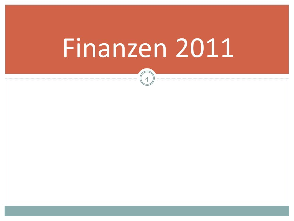 4 Finanzen 2011