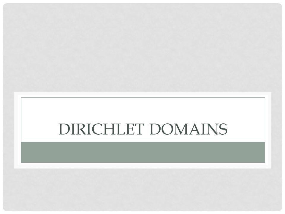 DIRICHLET DOMAINS