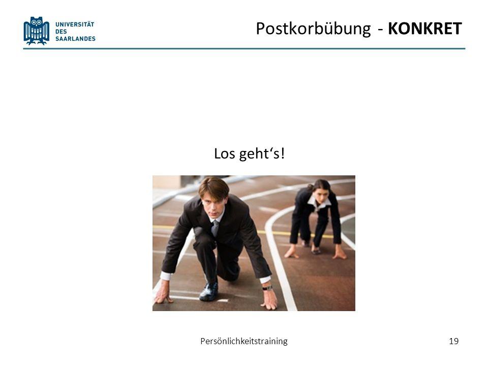 Postkorbübung - KONKRET Los gehts! Persönlichkeitstraining19