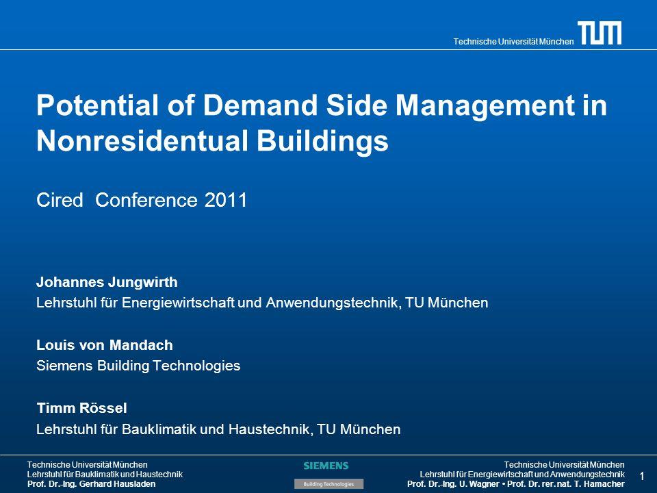 Technische Universität München Lehrstuhl für Bauklimatik und Haustechnik Prof.