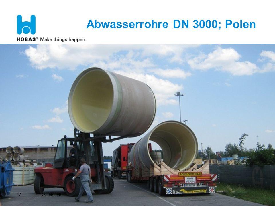 Abwasserrohre DN 3000; Polen 17 DST 091109
