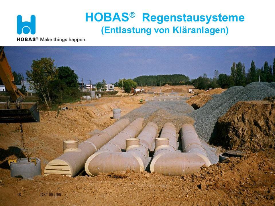 18 HOBAS ® Regenstausysteme (Entlastung von Kläranlagen) DST 091109