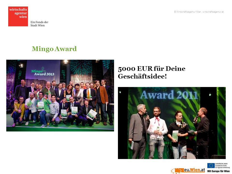 Mingo Award 5000 EUR für Deine Geschäftsidee! © Wirtschaftsagentur Wien, wirtschaftsagentur.at