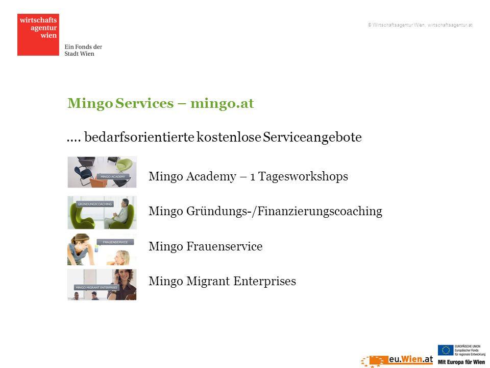 Mingo Services – mingo.at Mingo Academy – 1 Tagesworkshops Mingo Gründungs-/Finanzierungscoaching Mingo Frauenservice Mingo Migrant Enterprises …. bed