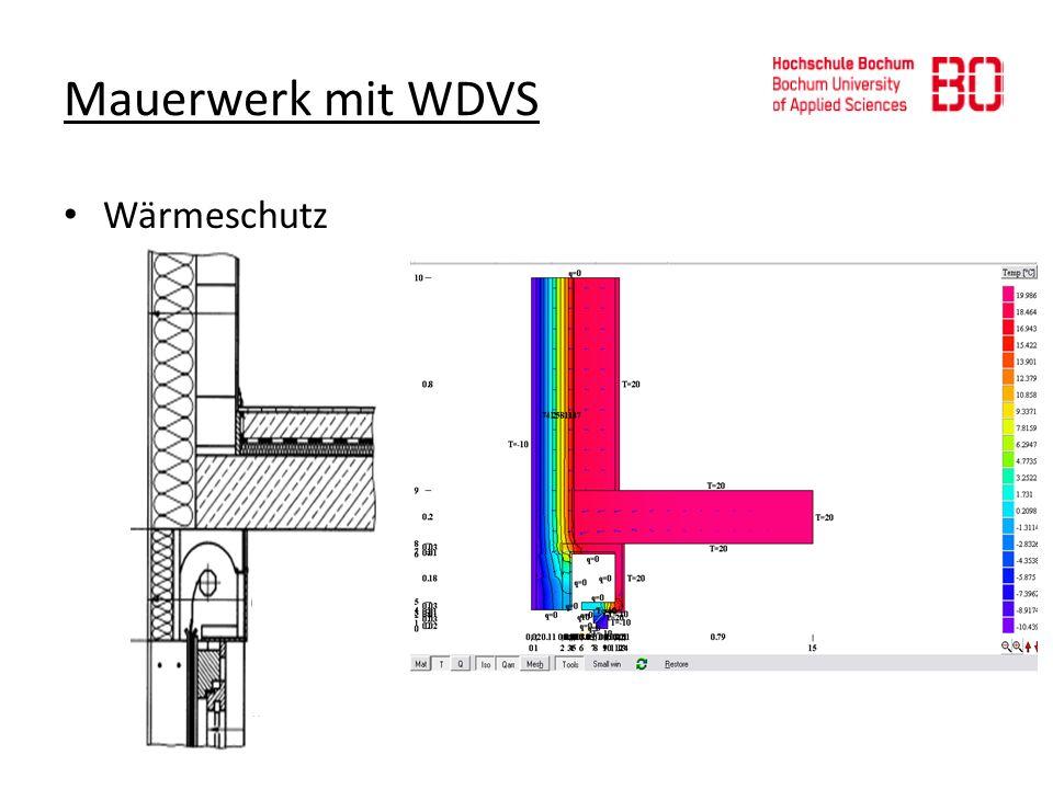 Mauerwerk mit WDVS Wärmeschutz