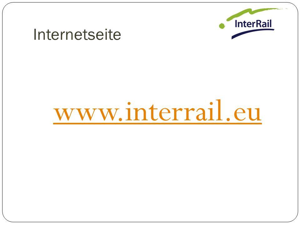 Internetseite www.interrail.eu