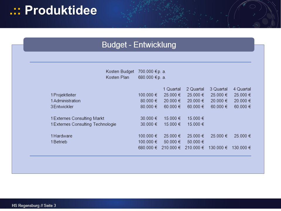 HS Regensburg // Seite 4.:: Produktidee Leistungen -Einnahmen ab Betaversion 3.