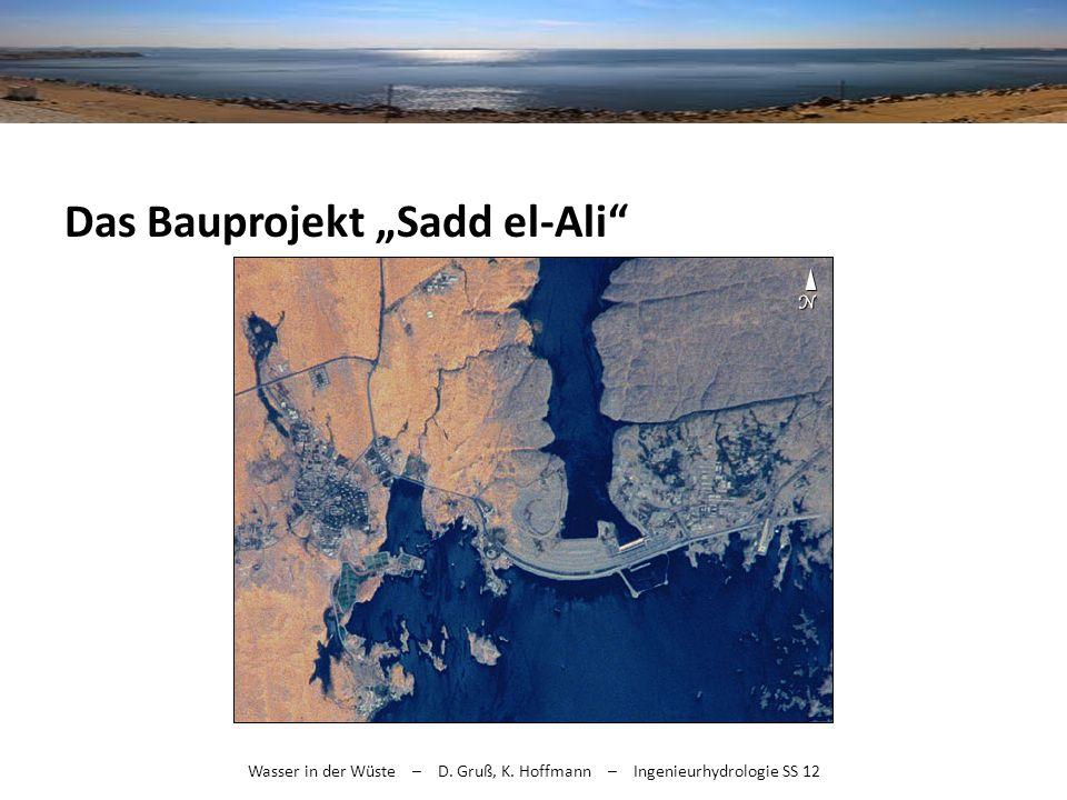 Wasser in der Wüste – D. Gruß, K. Hoffmann – Ingenieurhydrologie SS 12 Das Bauprojekt Sadd el-Ali