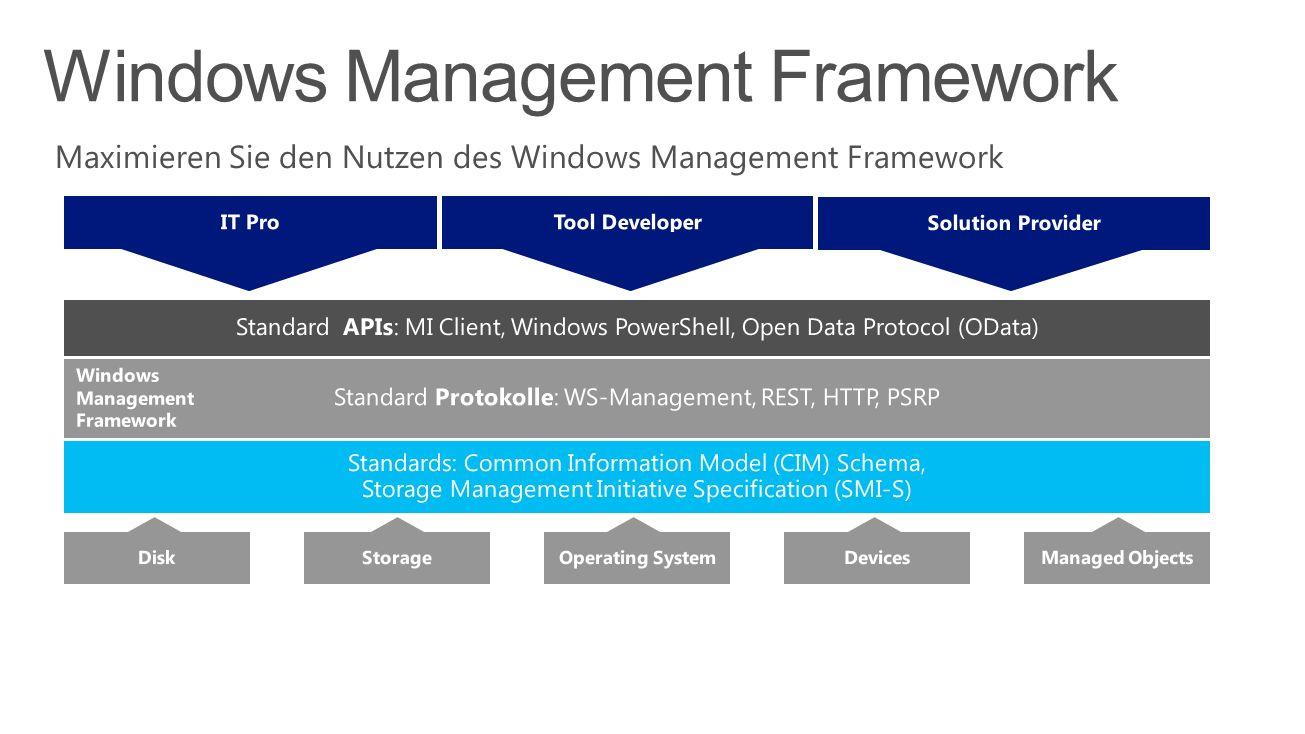 Maximieren Sie den Nutzen des Windows Management Framework Windows Management Framework
