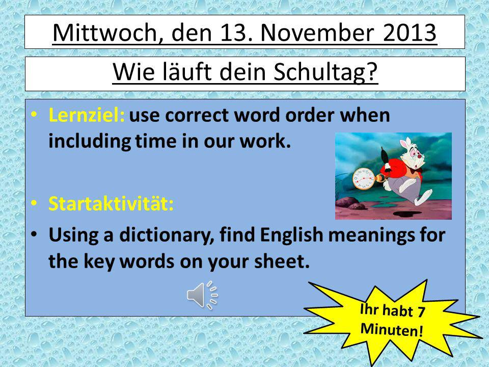 Was haben wir gelernt.x3 What do we need to remember about word order in the perfect tense.