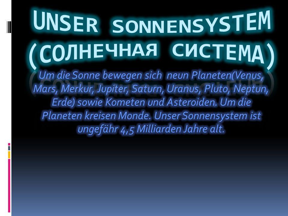 Der Pluto und Charon.