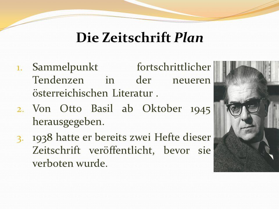 Die Zeitschrift Plan 1.