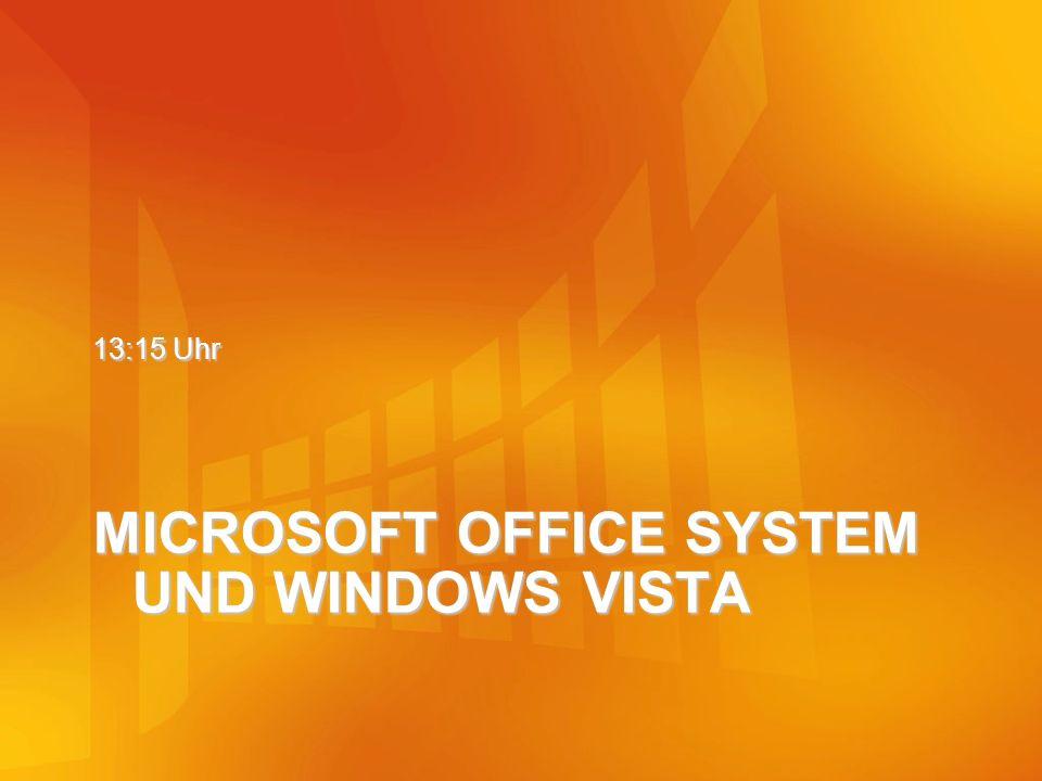 MICROSOFT OFFICE SYSTEM UND WINDOWS VISTA 13:15 Uhr