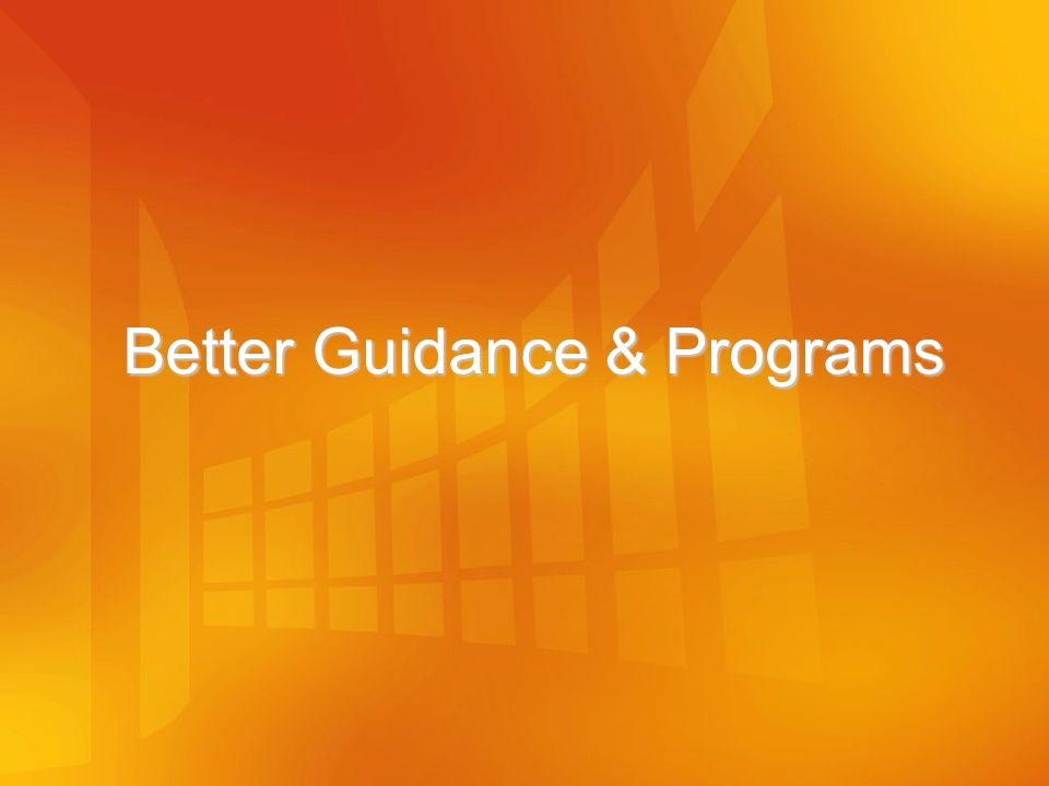 Better Guidance & Programs