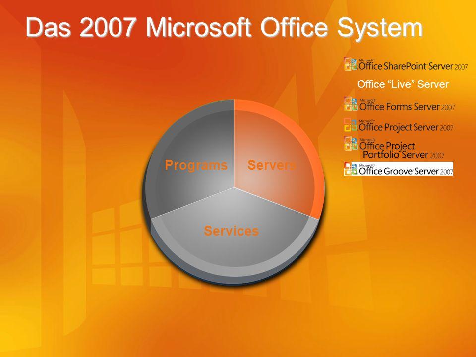 Das 2007 Microsoft Office System Office Live Server Servers Programs Services