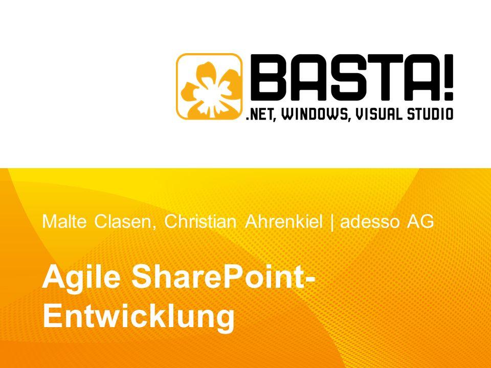 Malte Clasen, Christian Ahrenkiel | adesso AG Agile SharePoint- Entwicklung