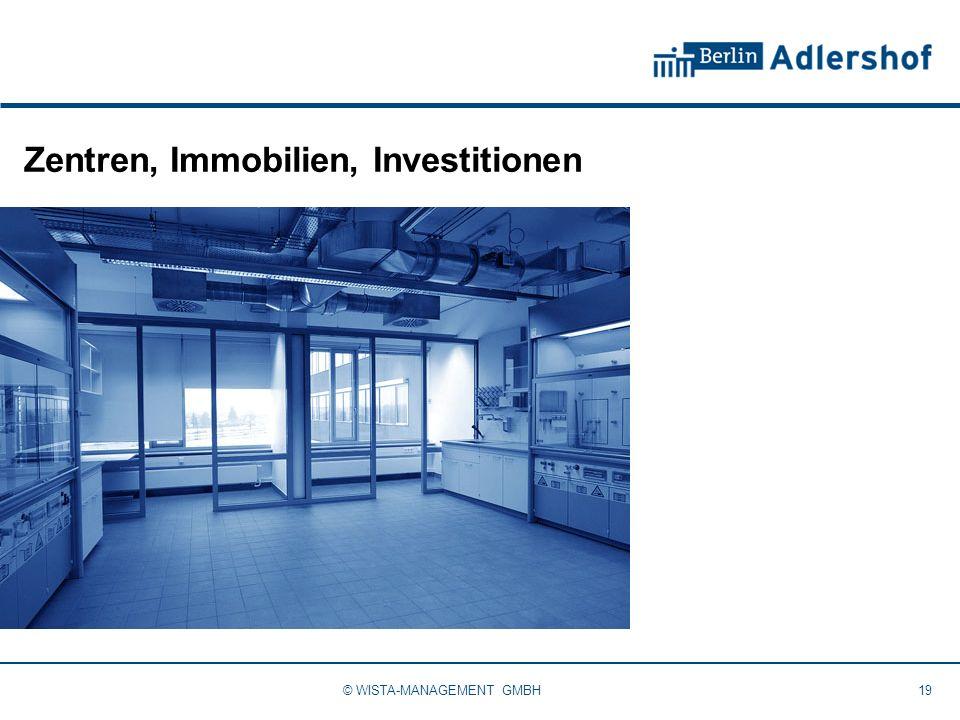 Zentren, Immobilien, Investitionen 19© WISTA-MANAGEMENT GMBH