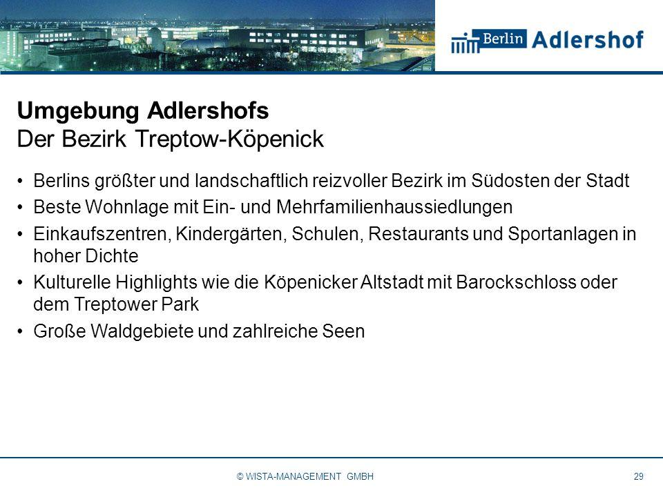 Umgebung Adlershofs Der Bezirk Treptow-Köpenick Berlins größter und landschaftlich reizvoller Bezirk im Südosten der Stadt Beste Wohnlage mit Ein- und