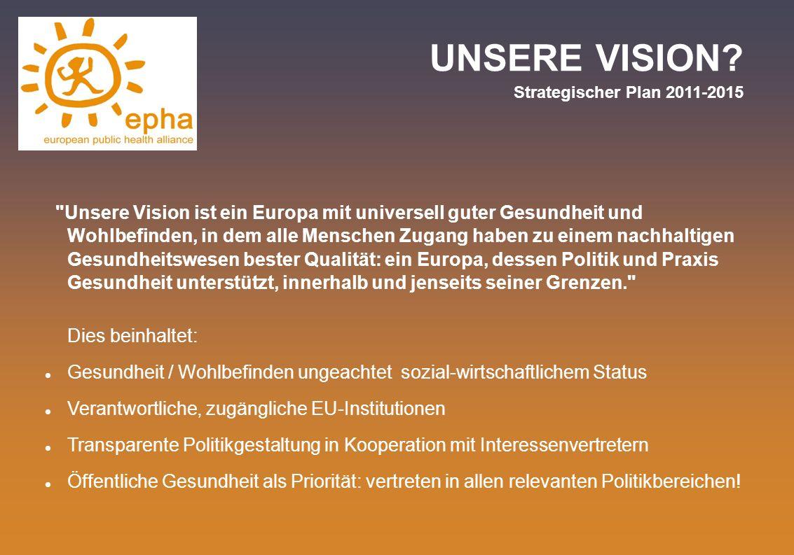 UNSERE VISION? Strategischer Plan 2011-2015