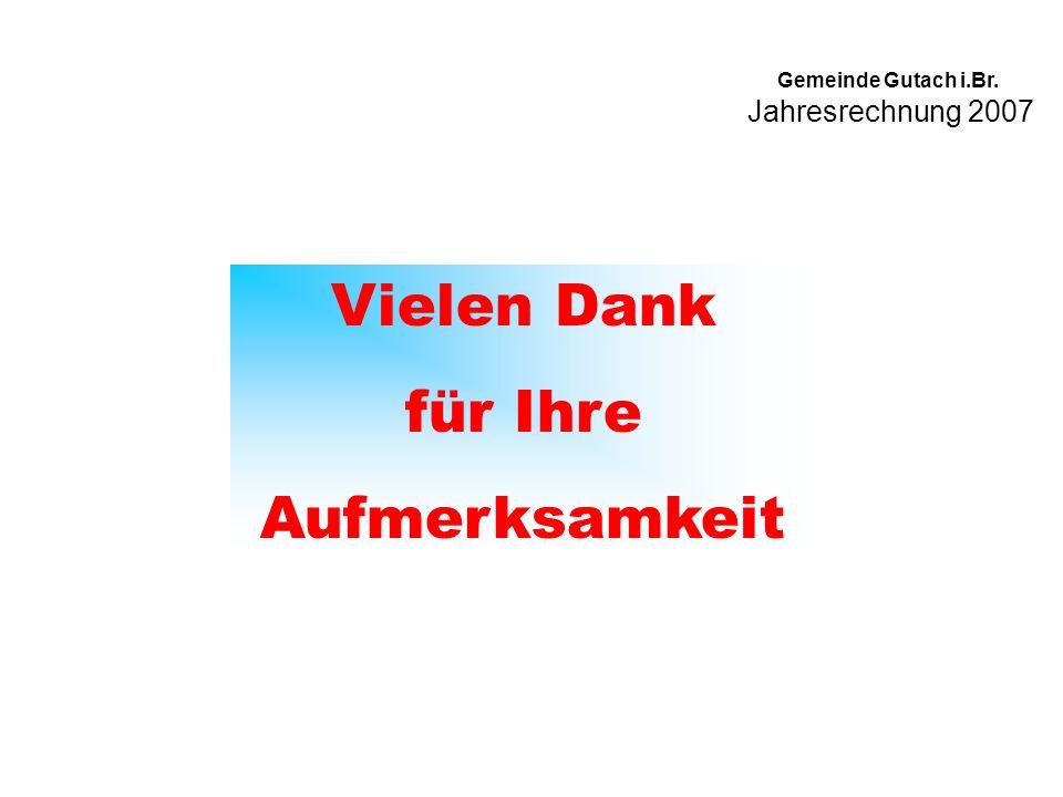 Jahresrechnung 2007 Gemeinde Gutach i.Br. Vielen Dank für Ihre Aufmerksamkeit