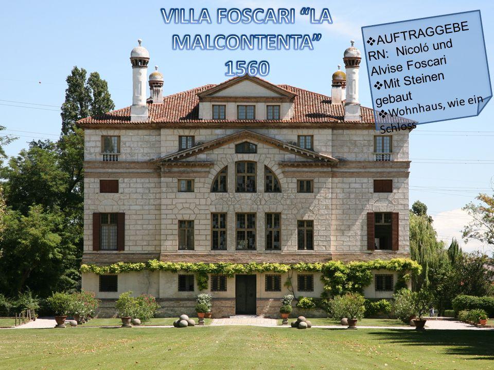 AUFTRAGGEBE RN: Nicol ó und Alvise Foscari Mit Steinen gebaut Wohnhaus, wie ein Schloss
