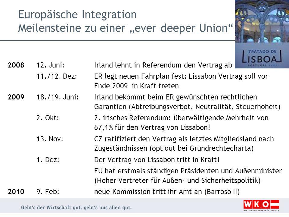 Europäische Integration Meilensteine zu einer ever deeper Union 2008 12.