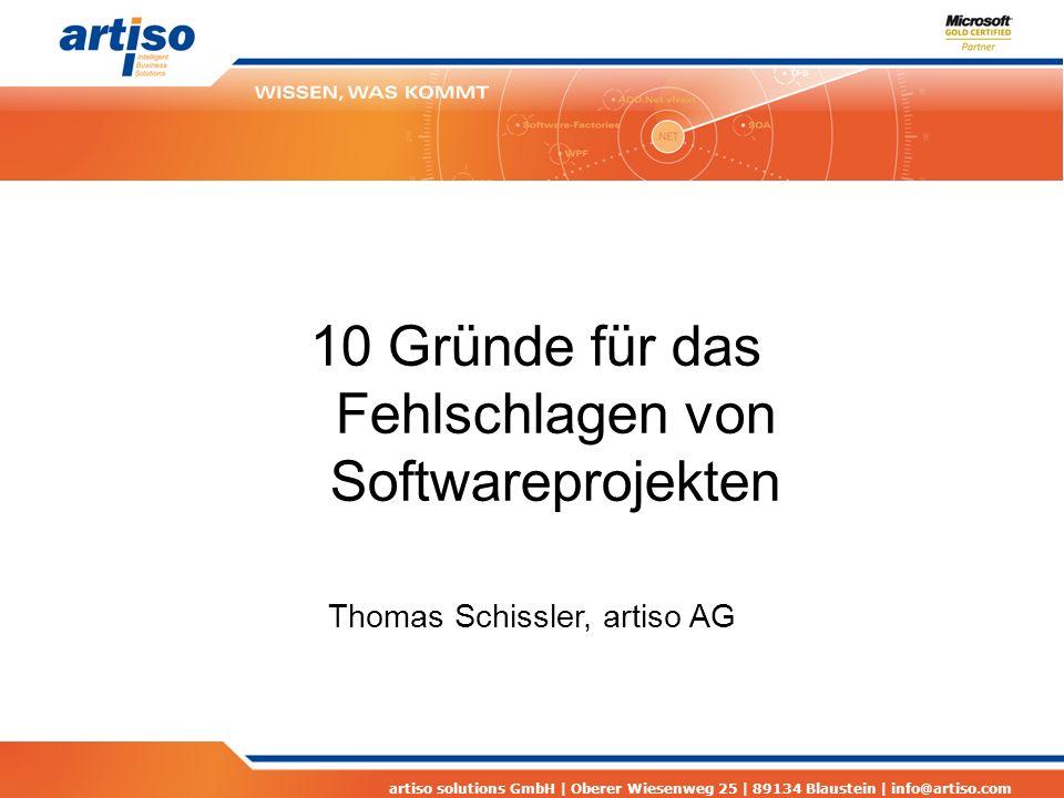 artiso solutions GmbH | Oberer Wiesenweg 25 | 89134 Blaustein | info@artiso.com Agiles vs.