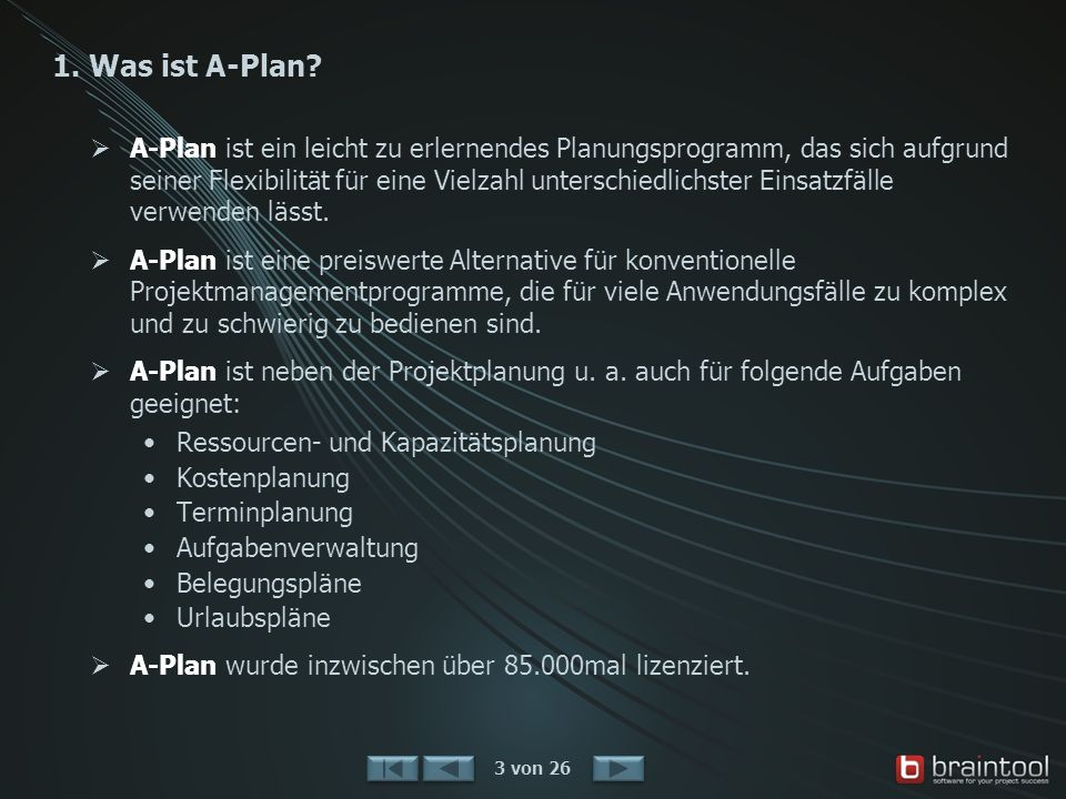 1.Was ist A-Plan.