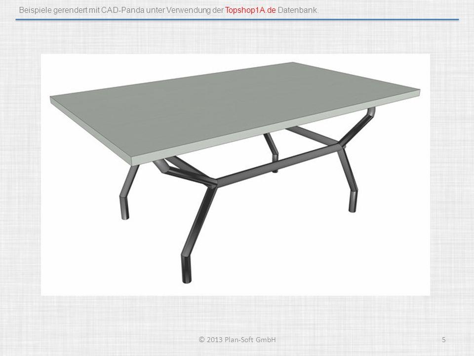 Beispiele gerendert mit CAD-Panda unter Verwendung der Topshop1A.de Datenbank. © 2013 Plan-Soft GmbH5