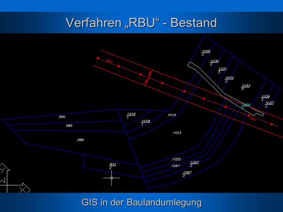 GIS in der Baulandumlegung Verfahren RBU - Bestand