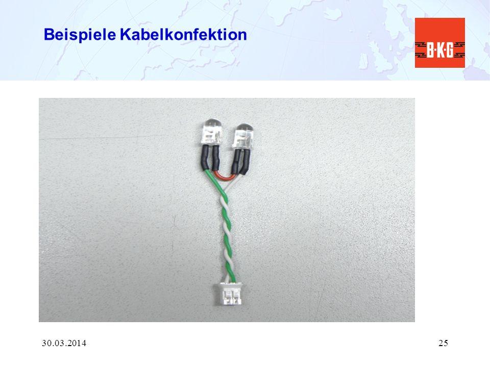 Beispiele Kabelkonfektion 30.03.201425