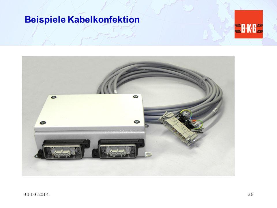 Beispiele Kabelkonfektion 30.03.201426