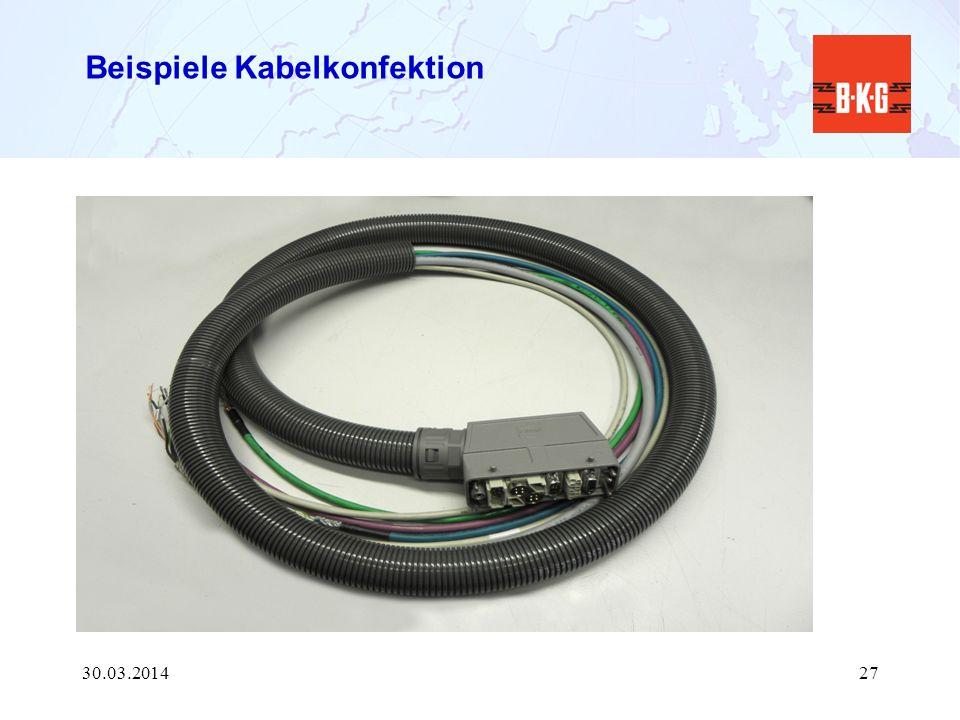Beispiele Kabelkonfektion 30.03.201427