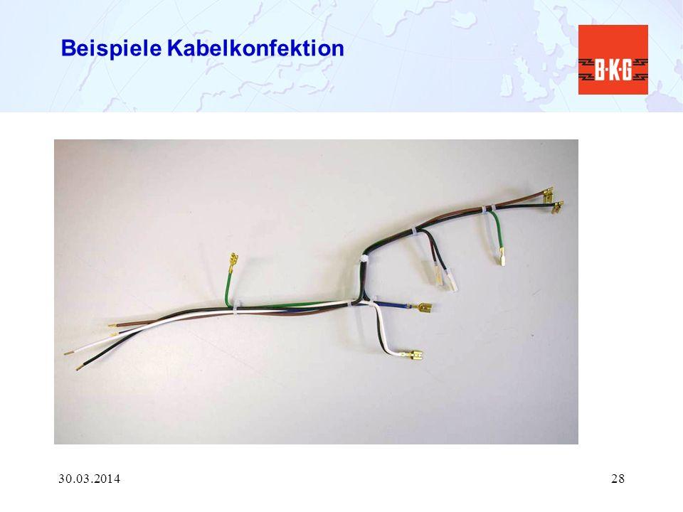Beispiele Kabelkonfektion 30.03.201428