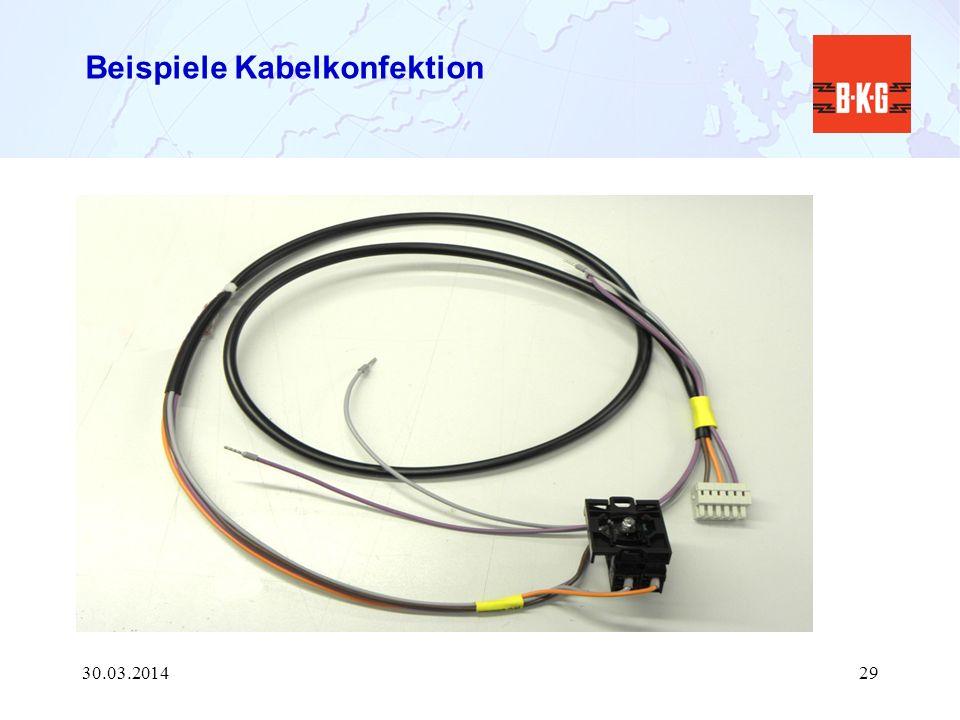 Beispiele Kabelkonfektion 30.03.201429