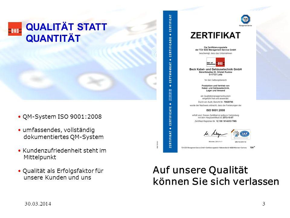 Steckverbinder und Kabel / Kabelkonfektion Anwendungen für Starkstromtechnik 30.03.201424