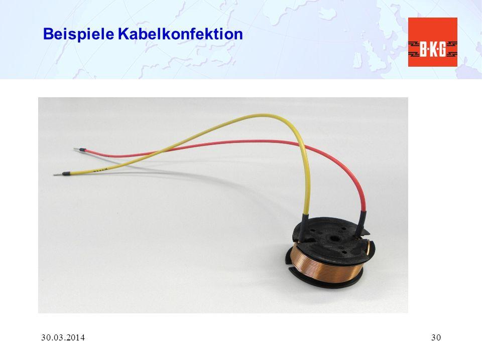 Beispiele Kabelkonfektion 30.03.201430