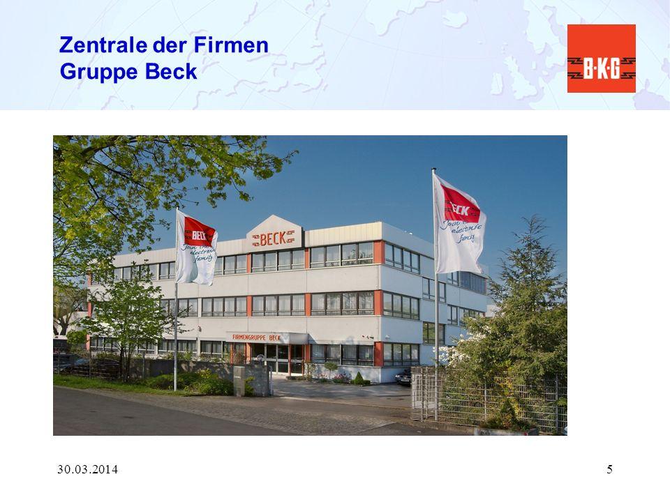 Zentrale der Firmen Gruppe Beck 30.03.20145