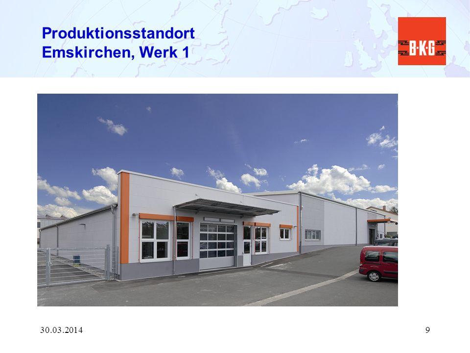 Produktionsstandort Emskirchen, Werk 1 30.03.20149