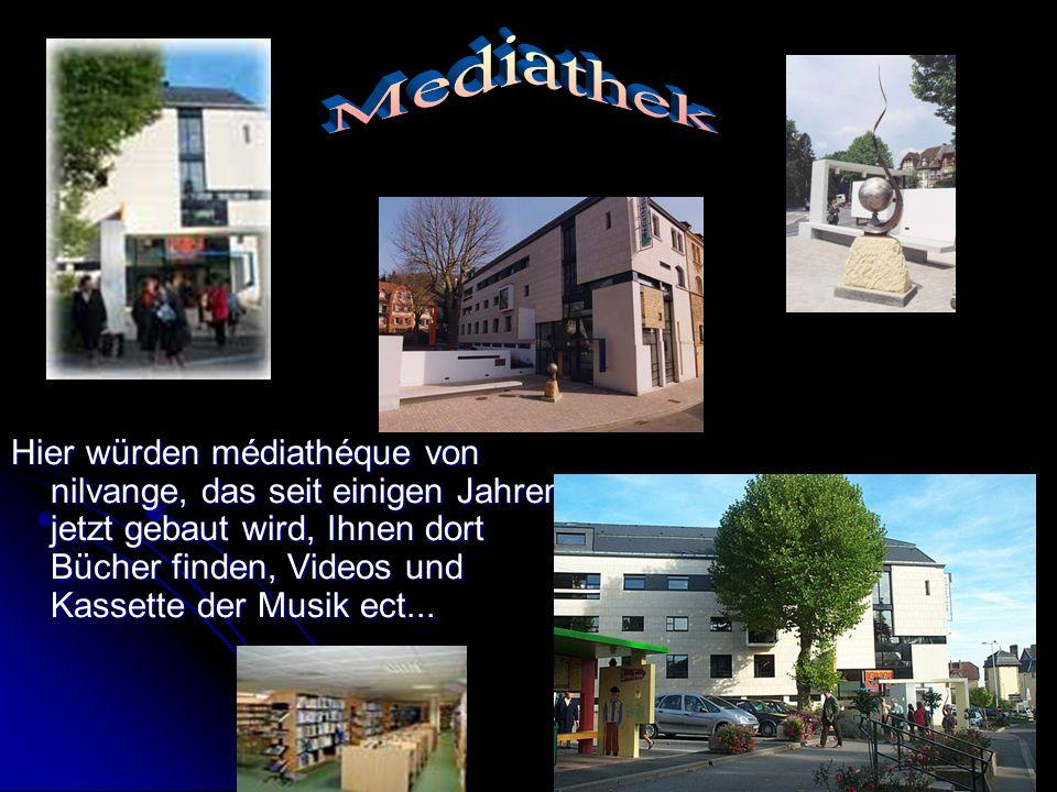 Hier würden médiathéque von nilvange, das seit einigen Jahren jetzt gebaut wird, Ihnen dort Bücher finden, Videos und Kassette der Musik ect...